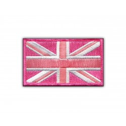 Military Flag of United Kingdom - pink (7.5 x 4.5 cm)