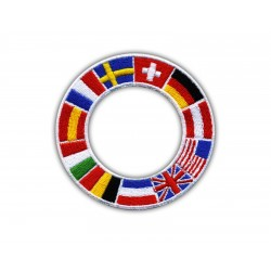 International shield with flags