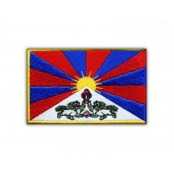 Flag of Tibet-XXL size (15 x 9.8 cm)
