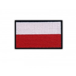 Flag of Poland ( 7.2 cm x 4.5 cm ) black edge