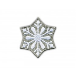 Snowflake - white and silver thread