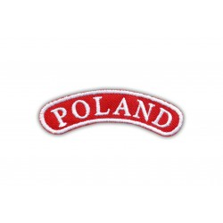 Shoulder stripe POLAND - white frame
