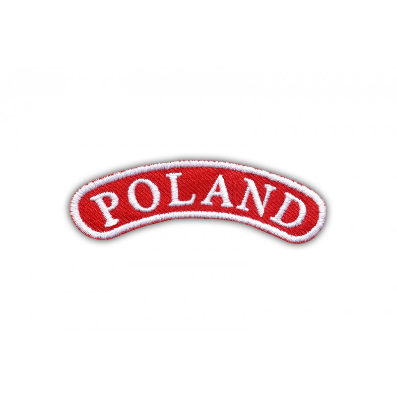 Shoulder stripe POLAND-white frame
