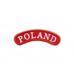 Shoulder stripe POLAND - red frame