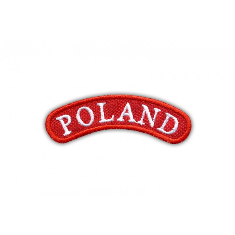 Shoulder stripe POLAND-red frame