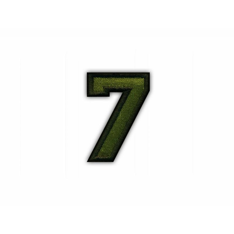 The digit 7 - khaki