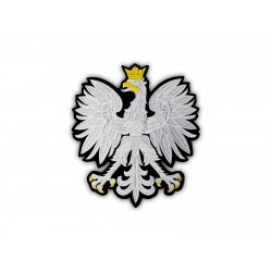 Polish eagle emblem - a large patch on the back