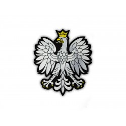 Polish eagle emblem with black frame - a large patch on the back