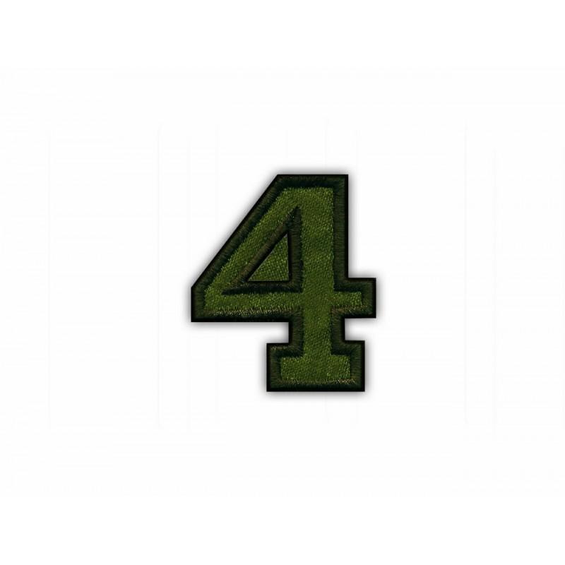 The digit 4 - khaki