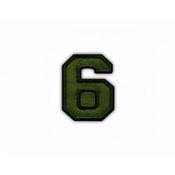 The digit 6 - khaki
