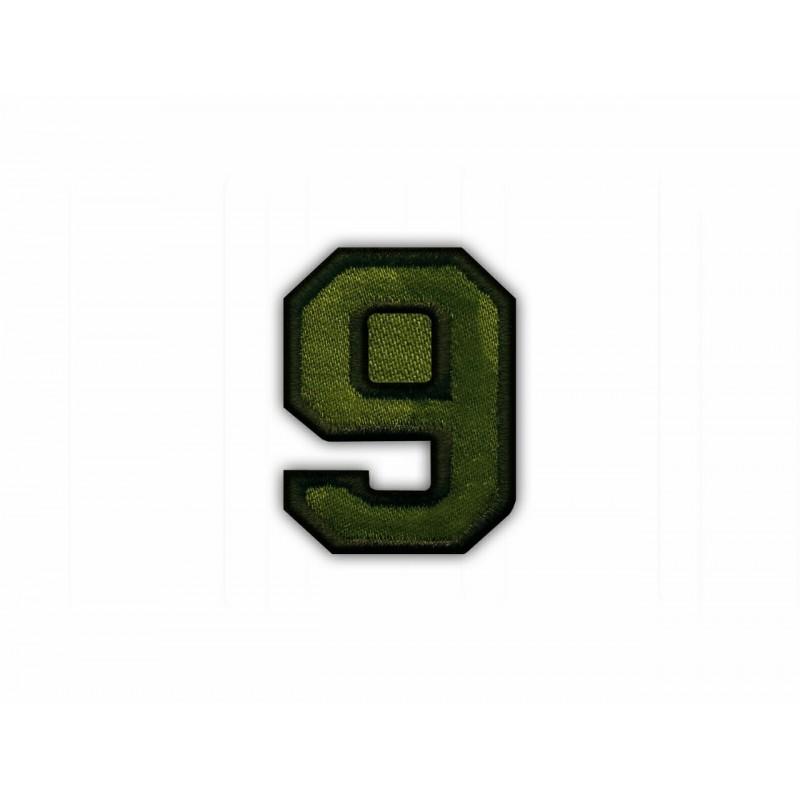 The digit 9 - khaki