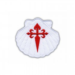 White Shell with red Cross - Symbol of St. James