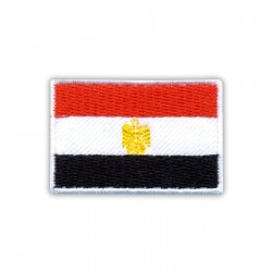 Flag of Egypt in white frame