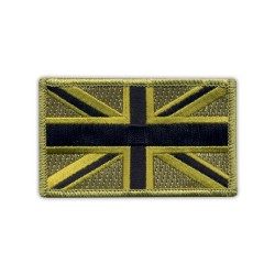 Military Flag of United Kingdom - subdued (7.5 x 4.5 cm)