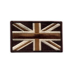Military Flag of United Kingdom - desert (7.5 x 4.5 cm)