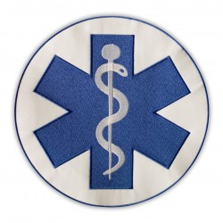 "Star of Life - on the back - 10"" - Paramedic Cross blue"