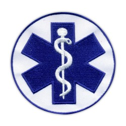 "Star of life - big 3.5"" - Paramedic Cross blue"