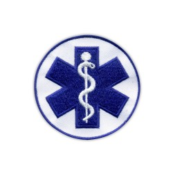 "Star of life - small 2.6"" - Paramedic Cross blue"