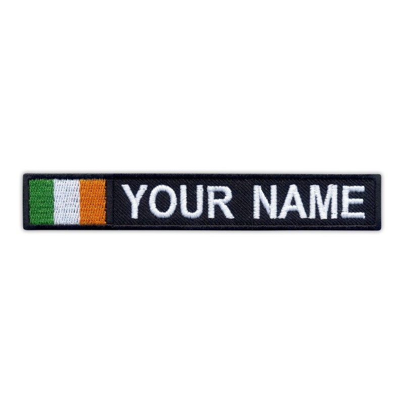 Name Patch with flag of Ireland
