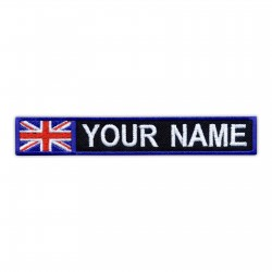 Name Patch with flag of United Kingdom