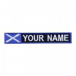 Name Patch with flag of Scotland