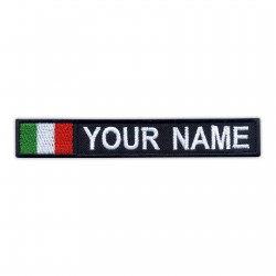 Name Patch with flag of Italy