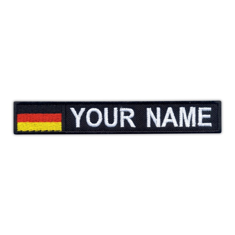 """Name Patch with flag 5"""" x 0.8"""" - various flags"""