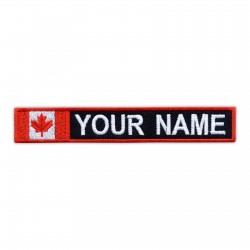 Name Patch with flag of Canada