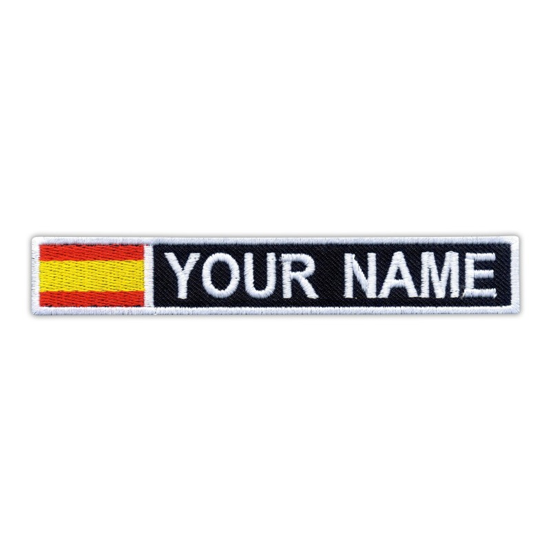 Name Patch with flag of Spain