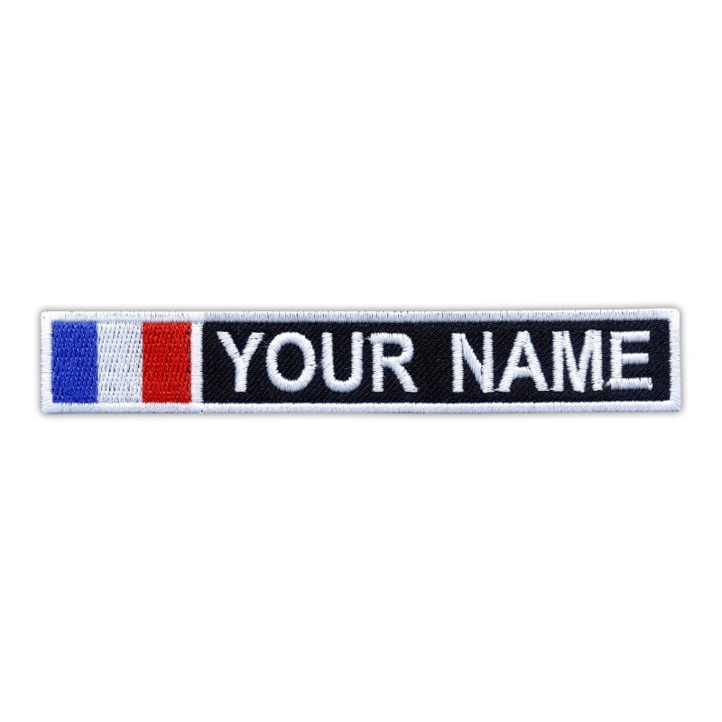 Name Patch with flag of France