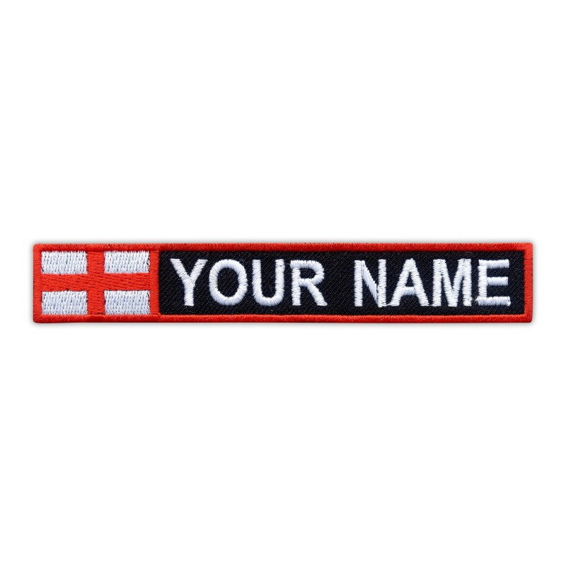 Name Patch with flag of England
