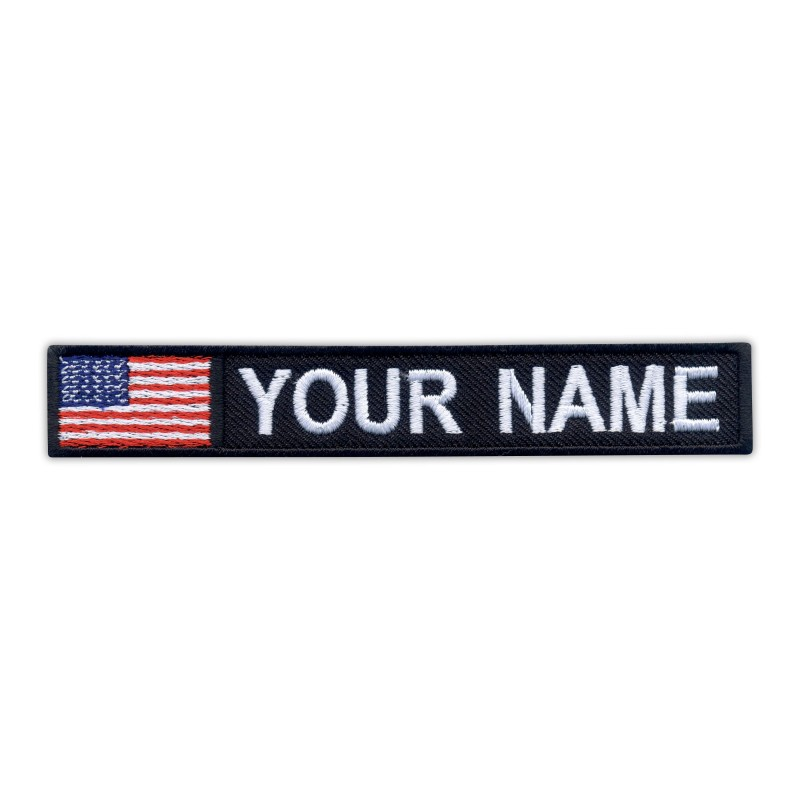 Name Patch with flag of USA