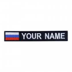 Name Patch with flag of Russia