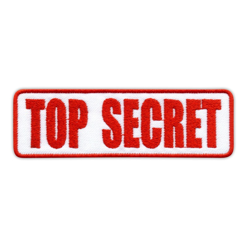 top secret stamp embroidered patch badge